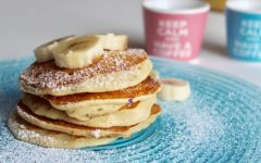 Pancakes light alla banana