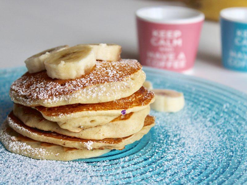 Pancakes light alla banana