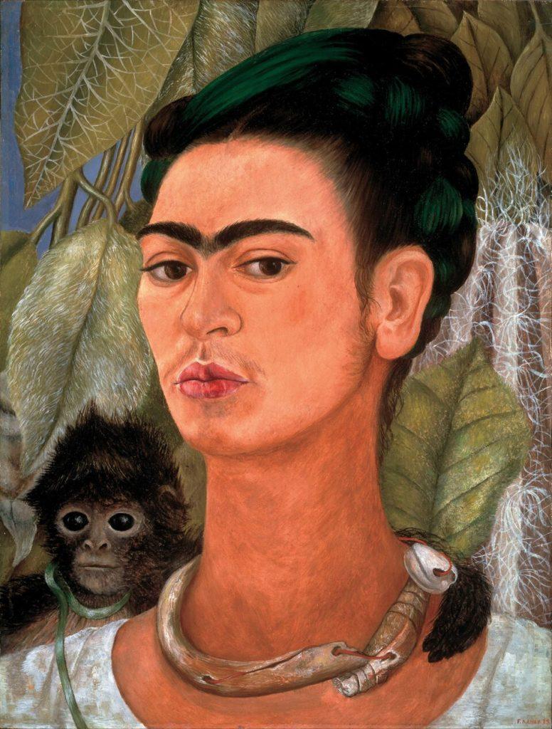 Ritratto con scimmia Frida Khalo